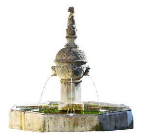 aménagement extérieur avec une fontaine